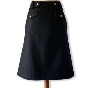 J Crew Wool/Cashmere Skirt with pockets
